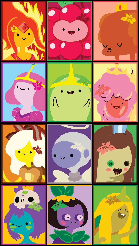 картинки время приключений все принцессы