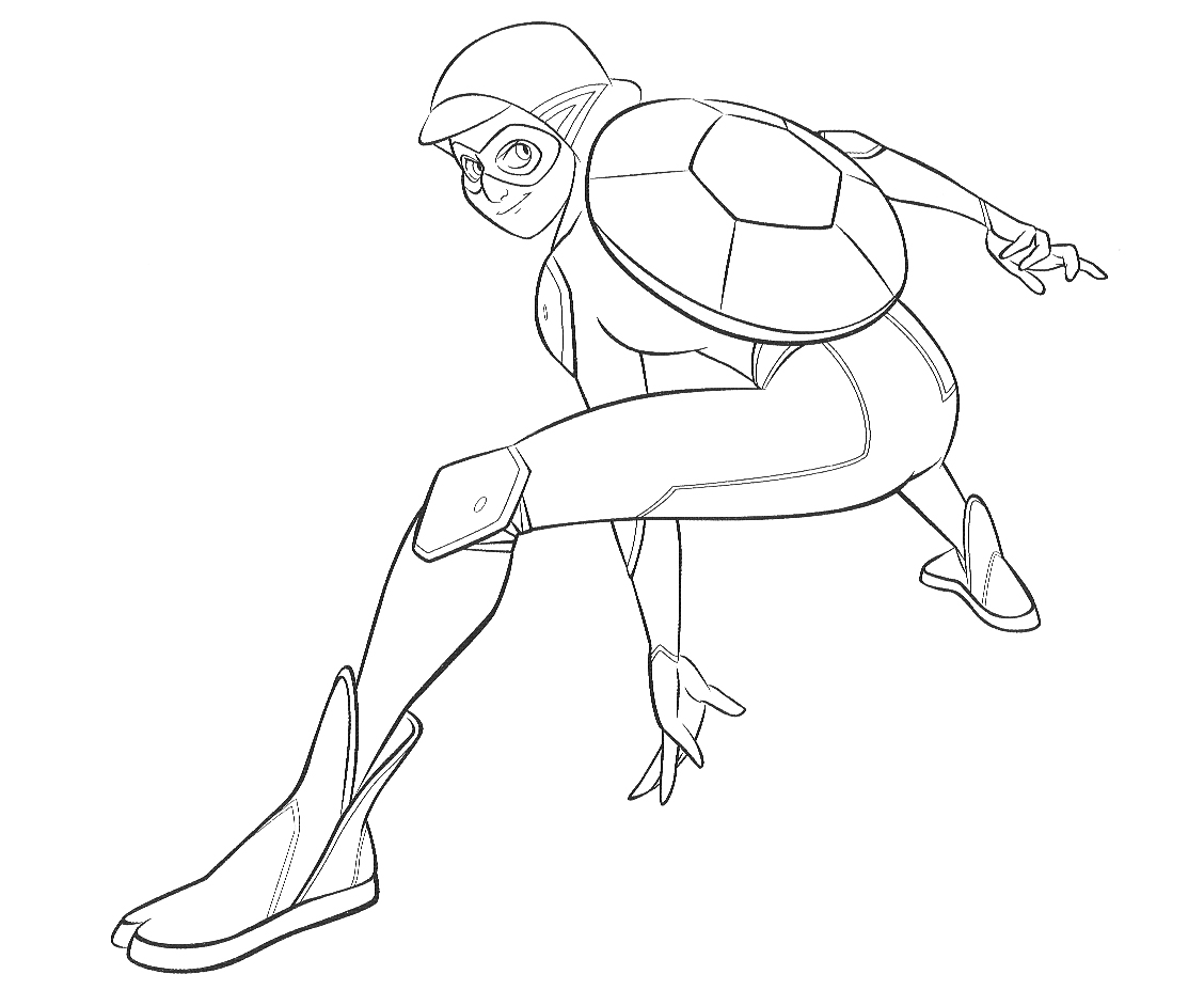 Раскраска Леди Баг и Супер Кот - супер герой Карапас ...
