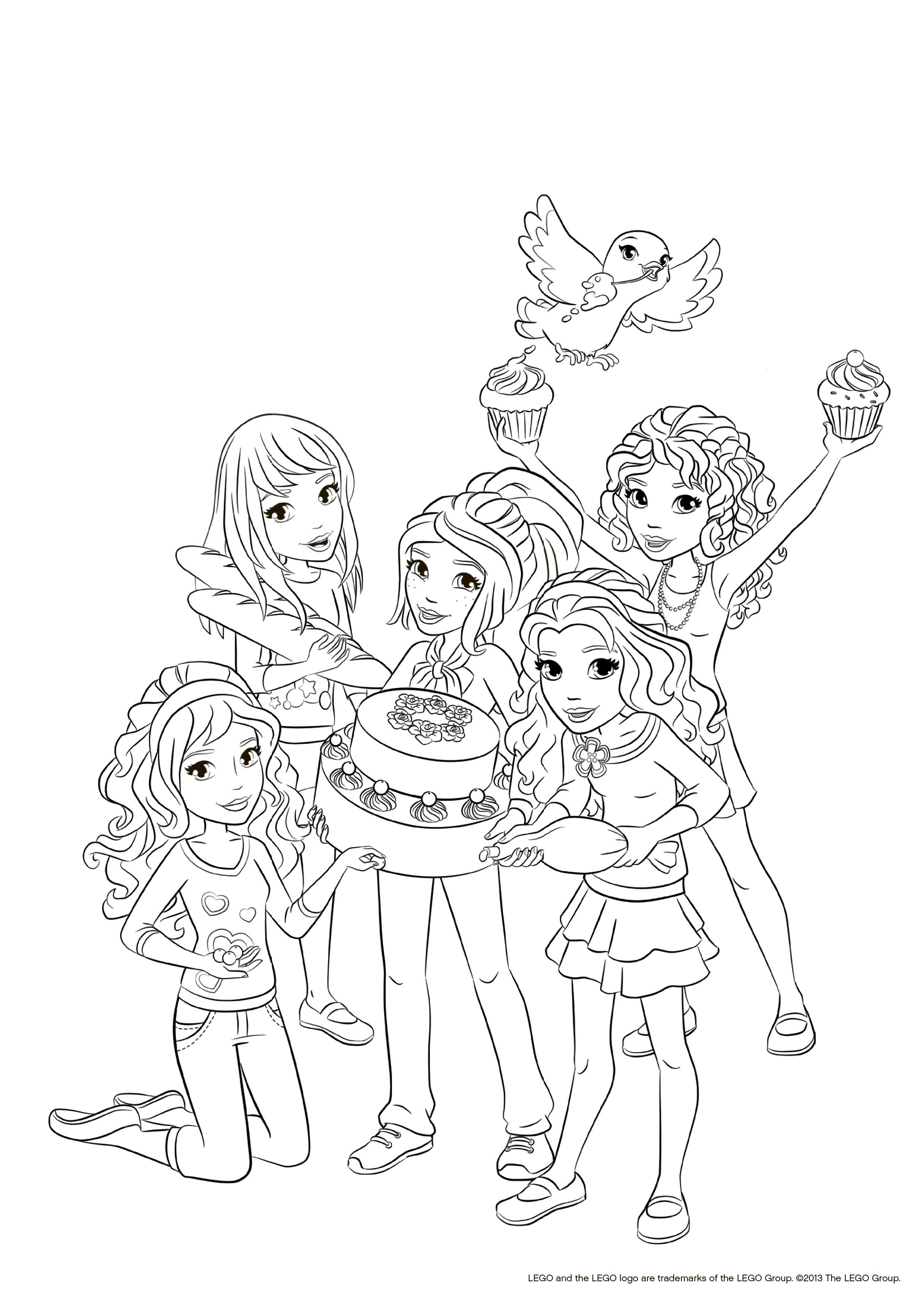 Раскраска лего для девочек - 5