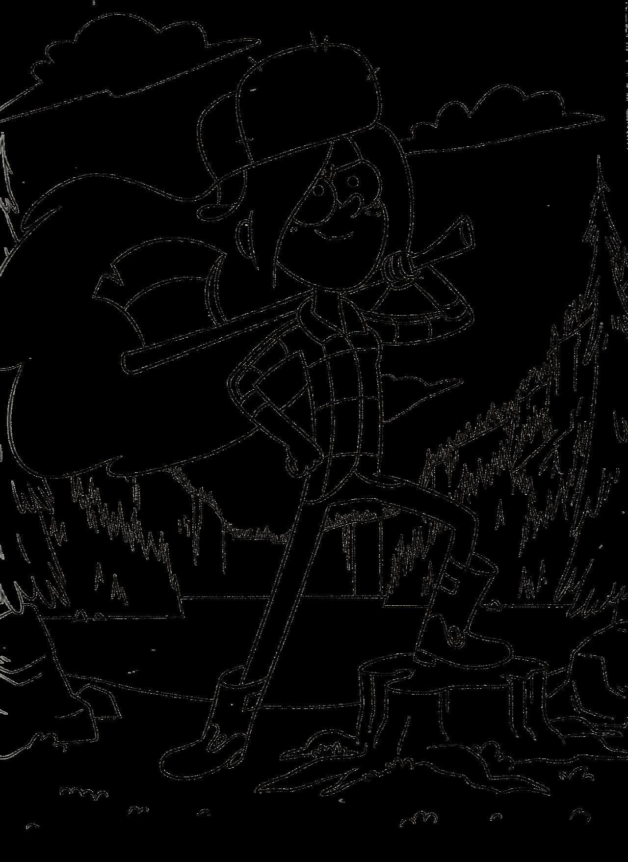 раскраска гравити фолз венди с топором раскраски гравити