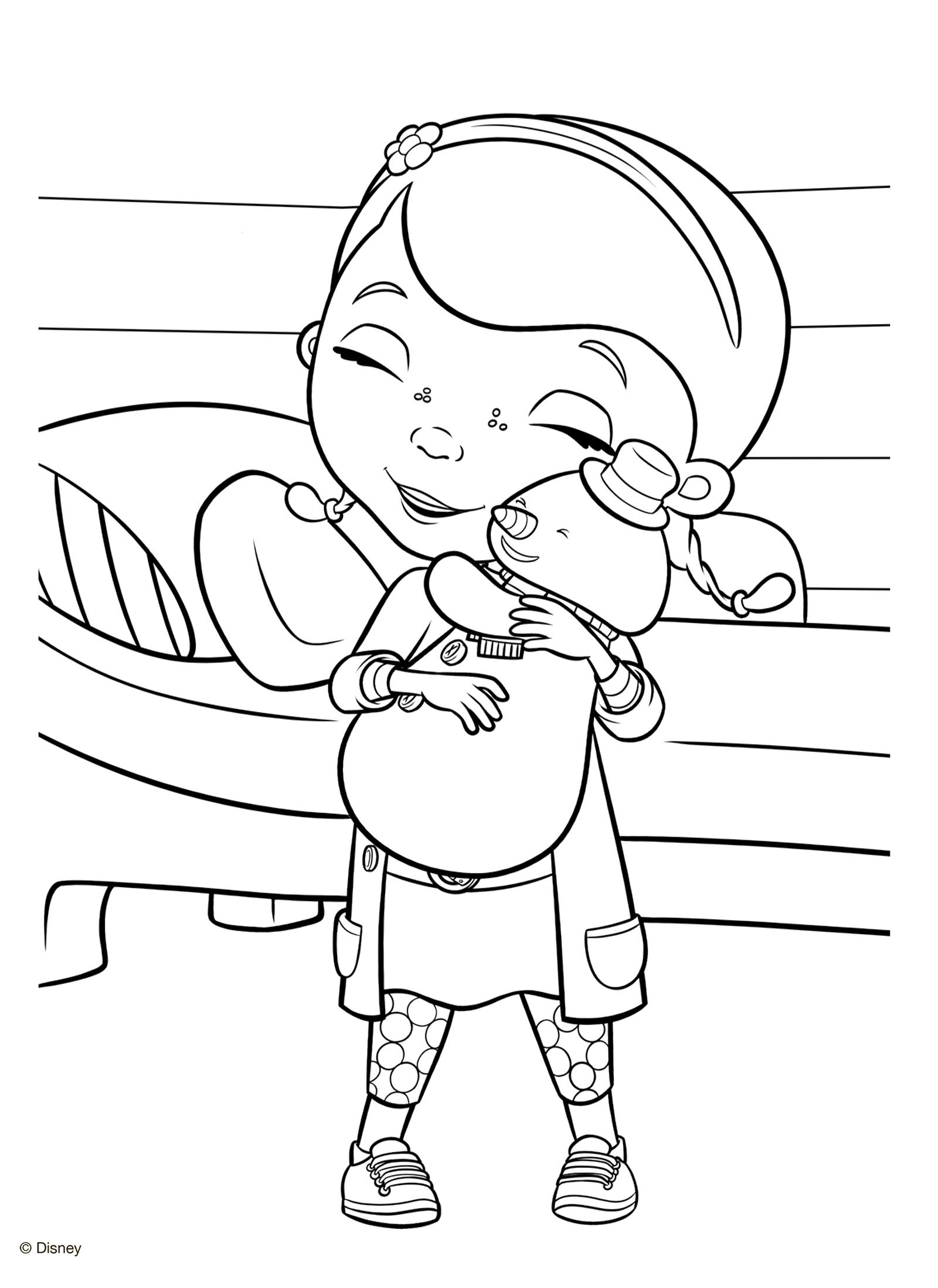 раскраска доктор плюшева и снеговик чилли раскраски доктор