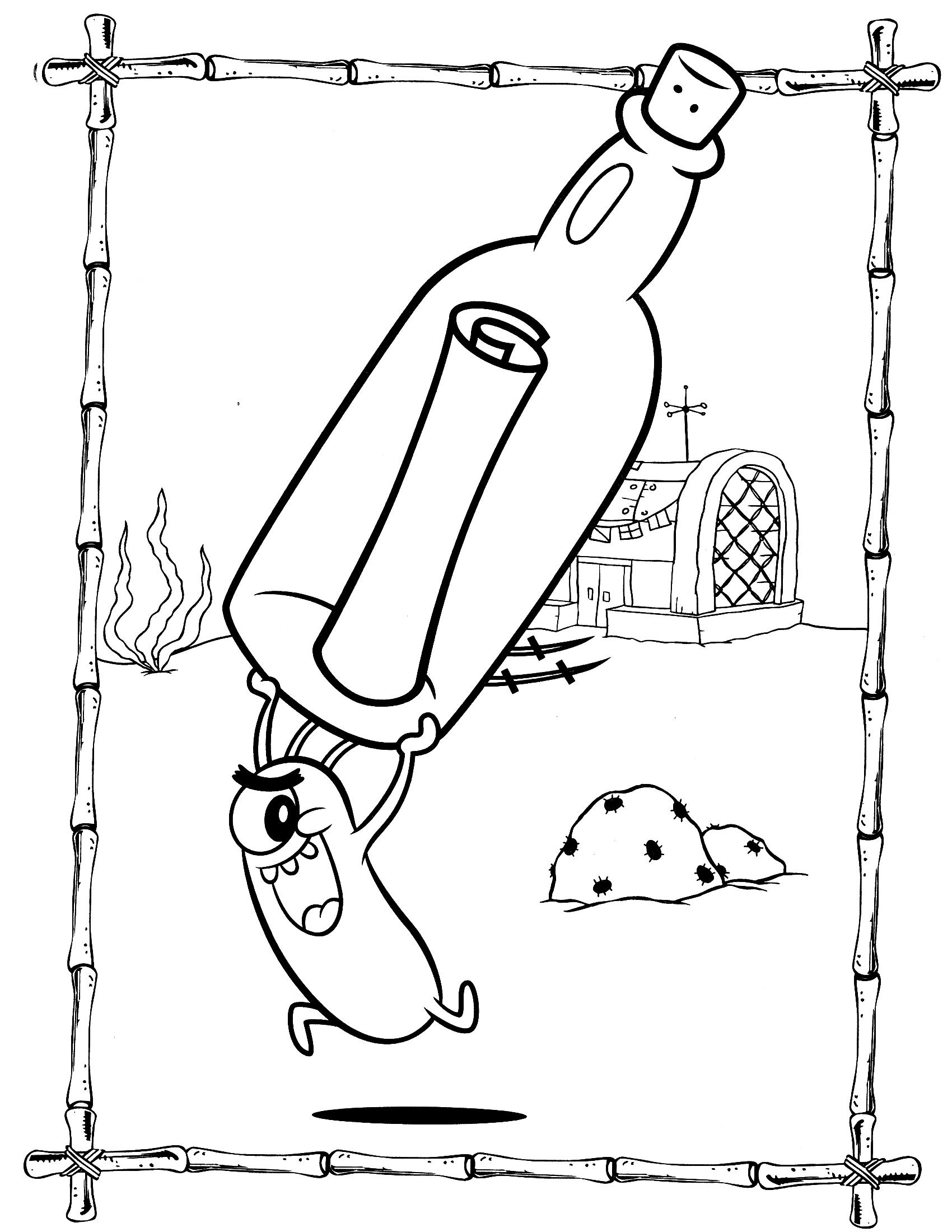 Раскраска Шелдон Планктон - Раскраски Губка Боб - YouLoveIt.ru