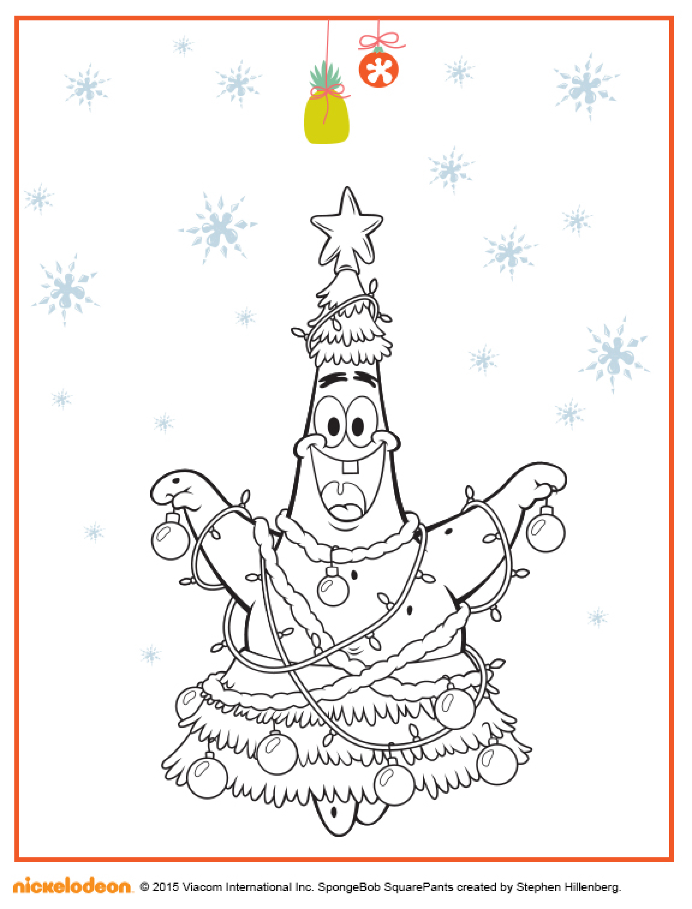патрик новогодняя звезда раскраска раскраски губка боб