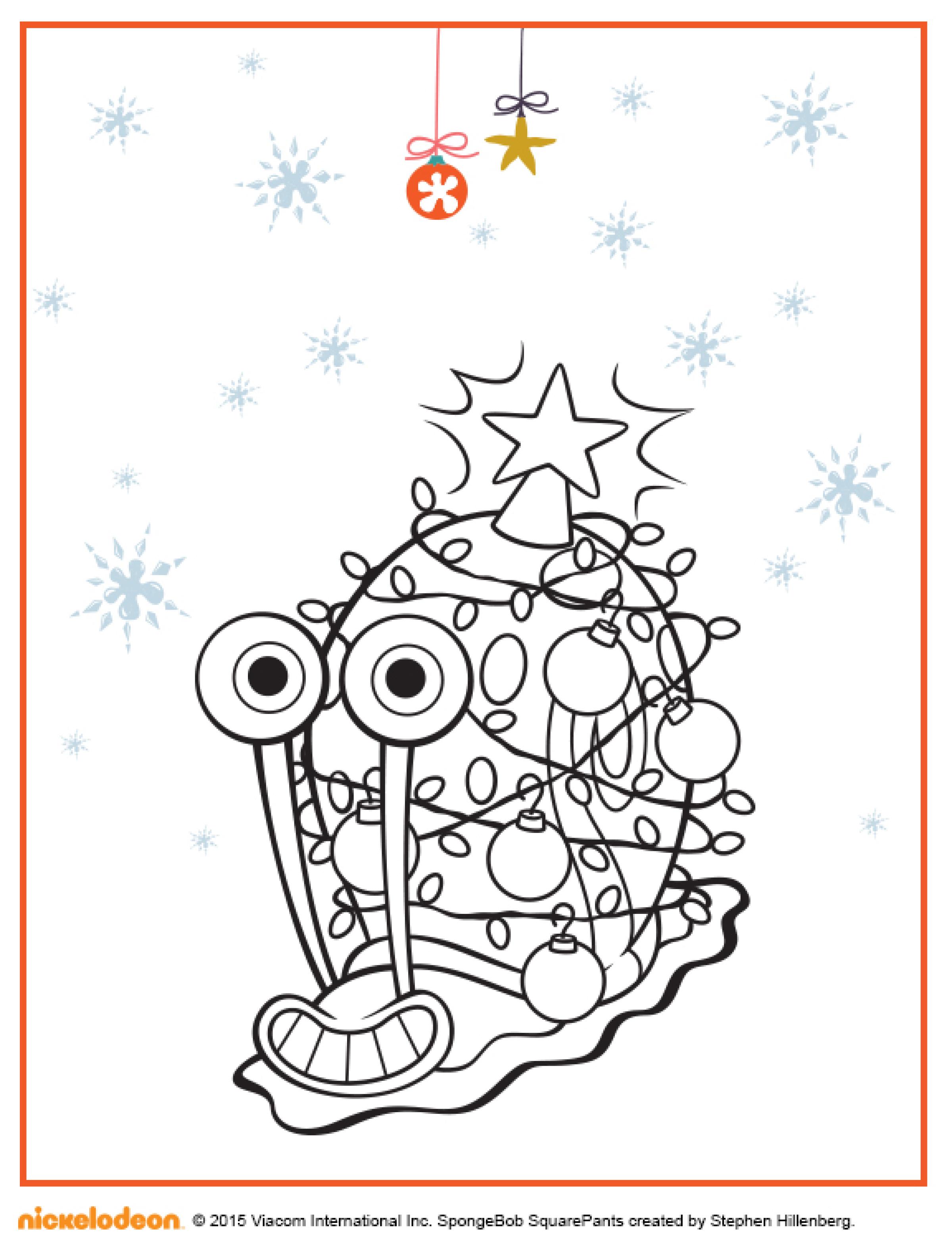 новогодняя раскраска с улиткой гэри раскраски губка боб