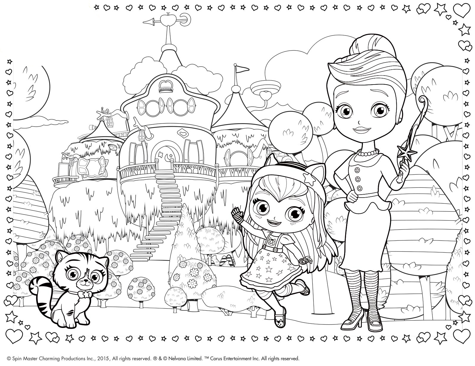 little charmers coloring pages printable - photo#7