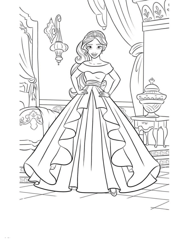 Картинка раскраска с Еленой - принцессой Авалора ...