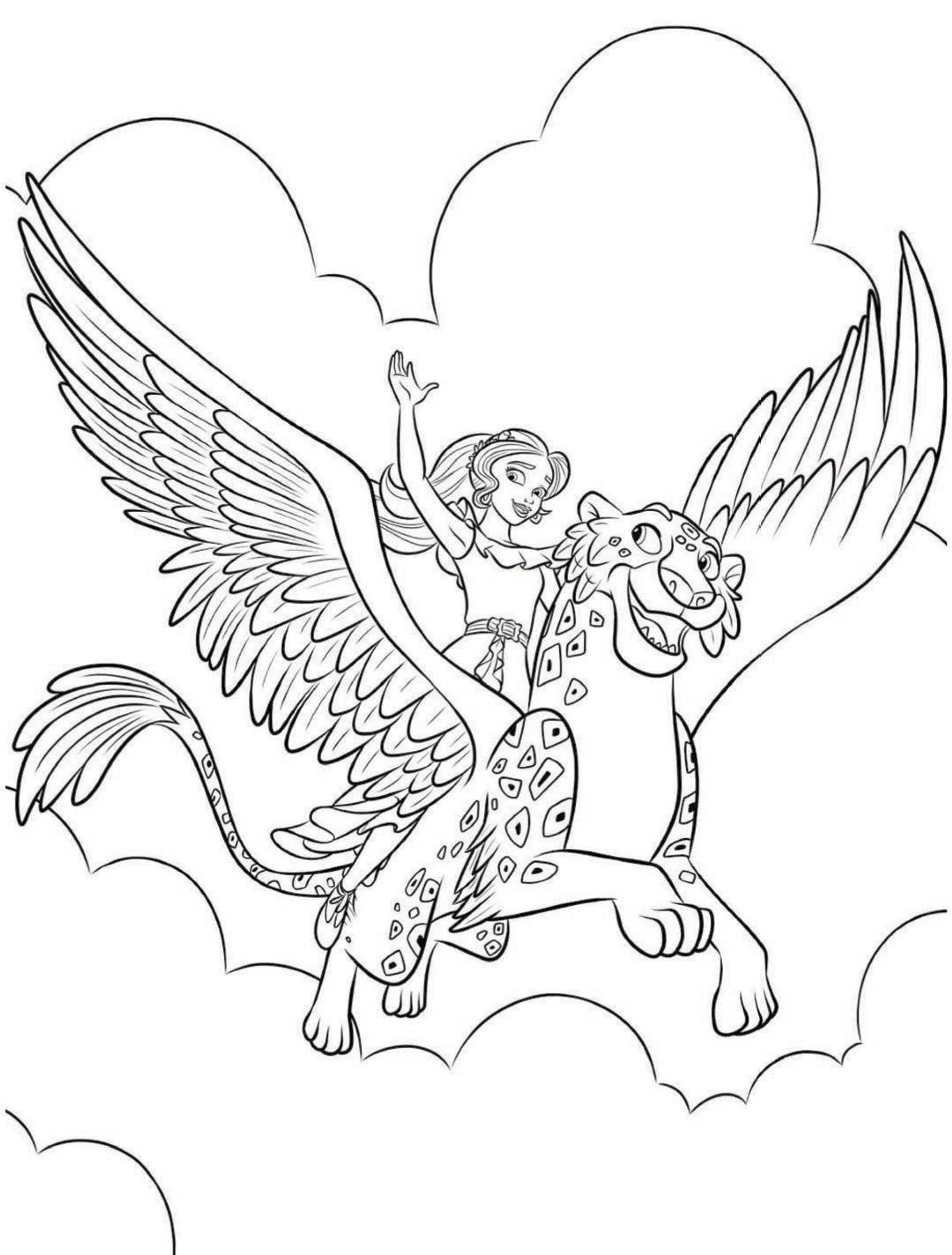 Раскраска Елена принцесса Авалора и Скайлар - Раскраски ...