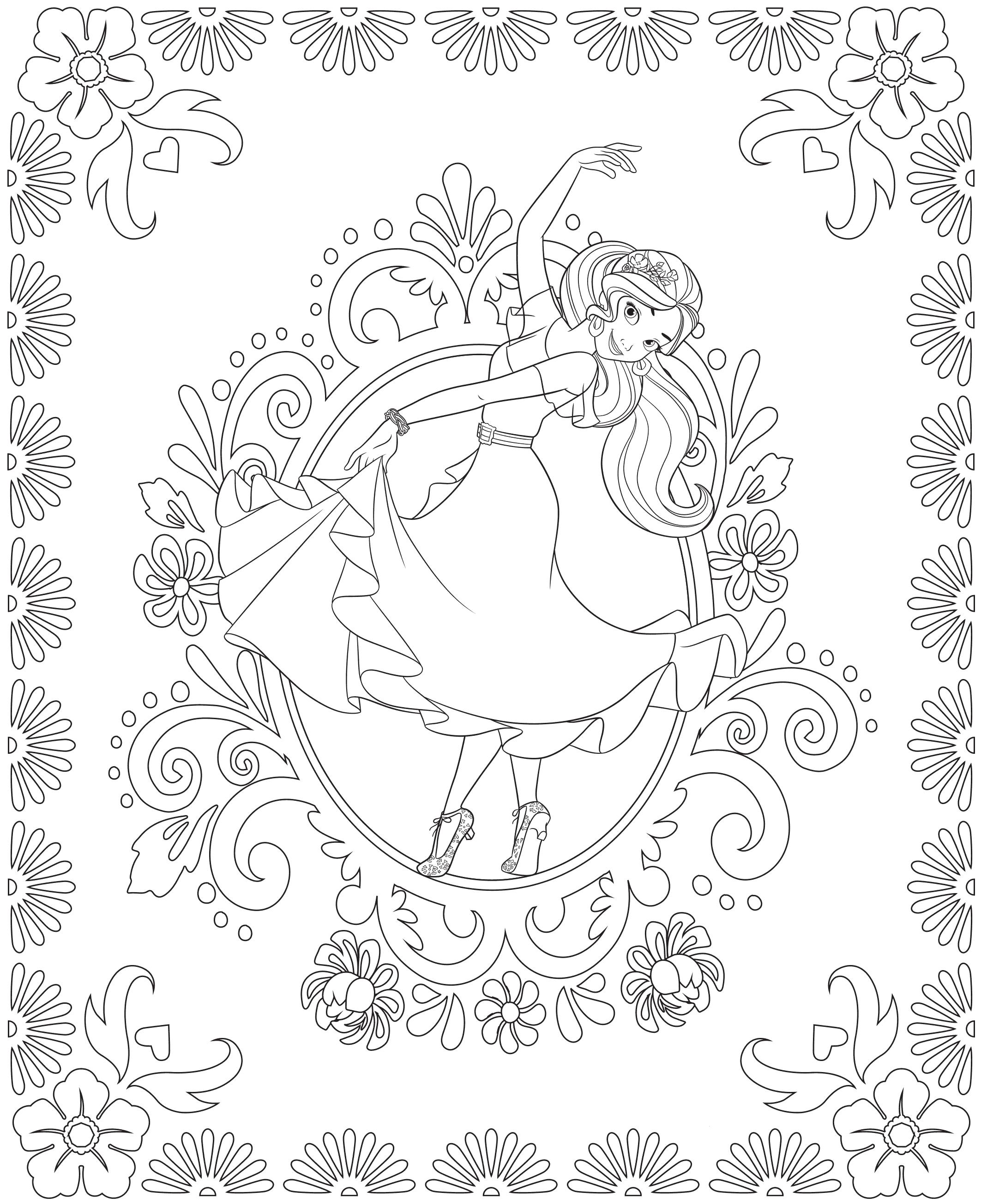 Раскраска для девочек Елена принцесса Авалора - Раскраски ...