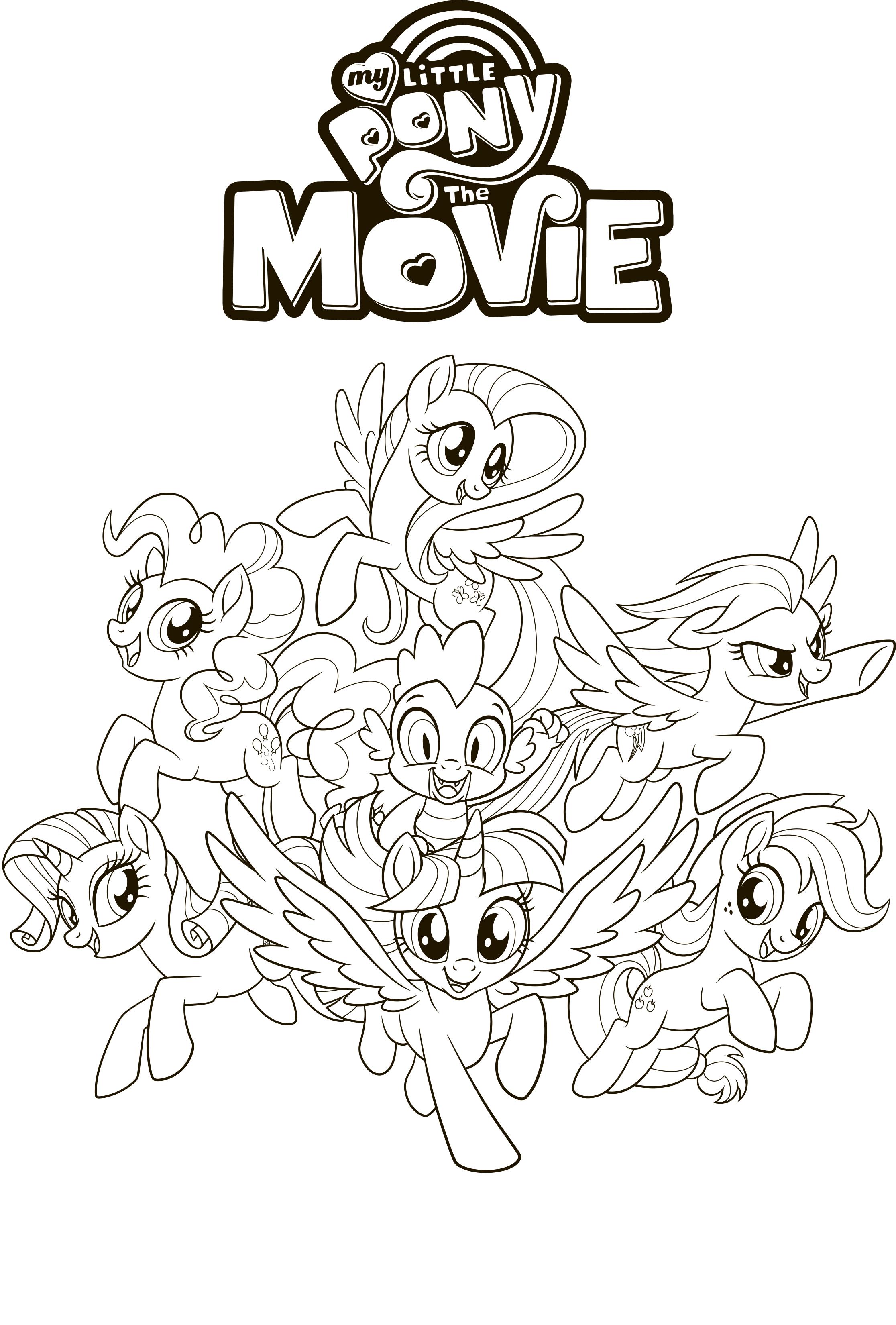 Раскраска Мой Маленький Пони в кино - Раскраски Мой ...