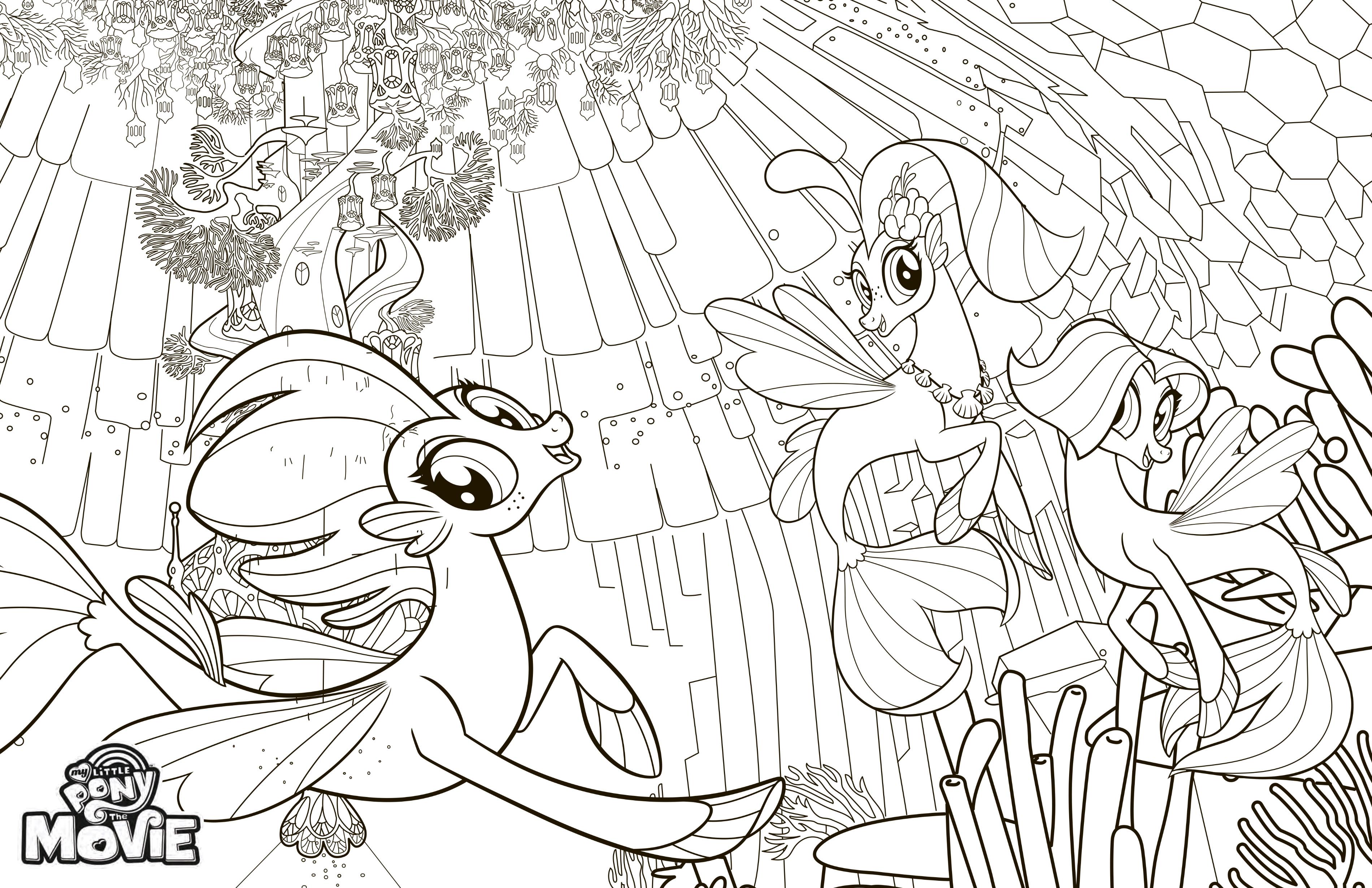 пони русалочки My Little Pony в кино раскраска раскраски