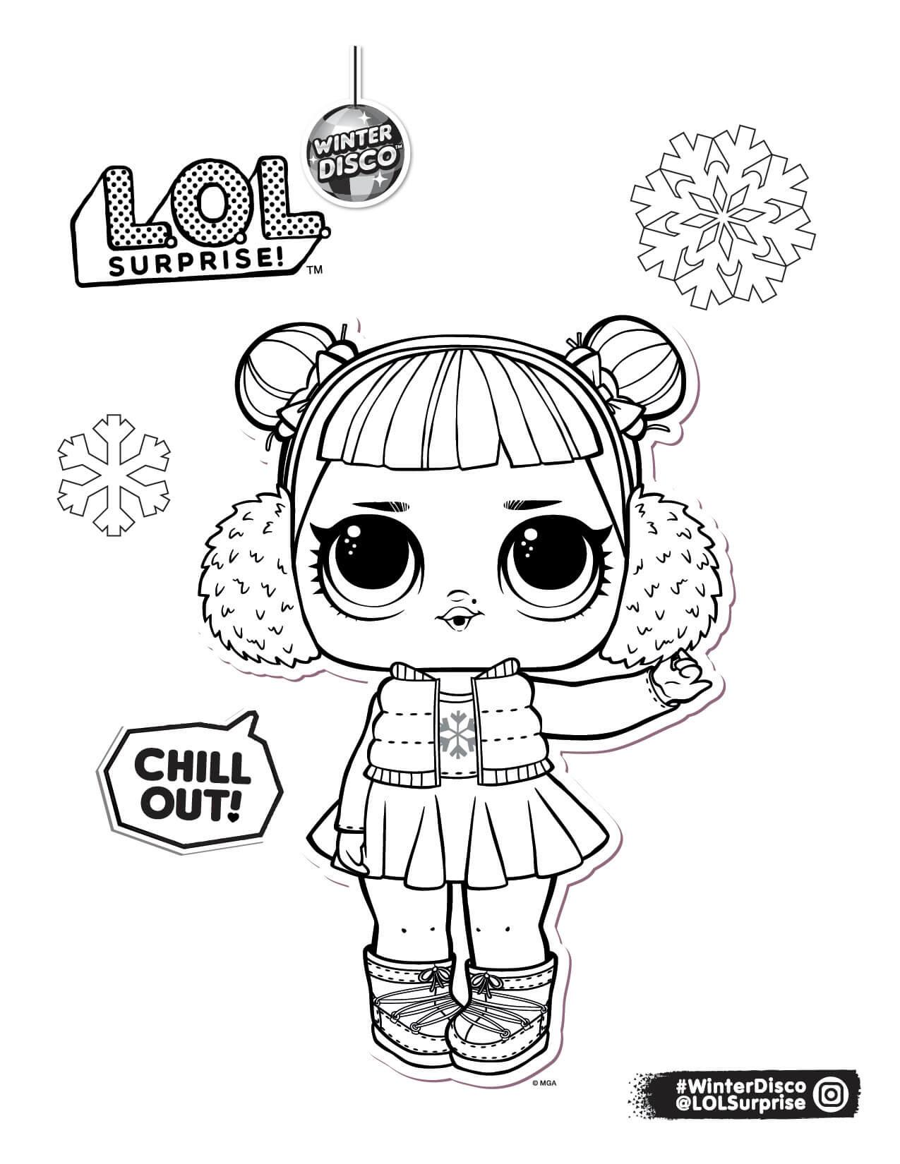 Раскраска ЛОЛ в зимней одежде - Раскраски Лол LOL Surprise ...