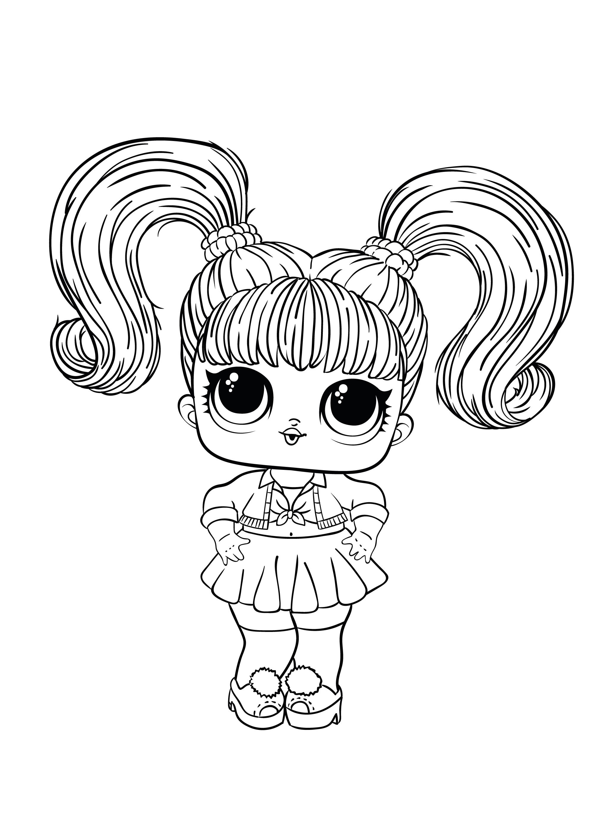 Новая раскраска ЛОЛ с куклой Oops Baby - Раскраски Лол LOL ...