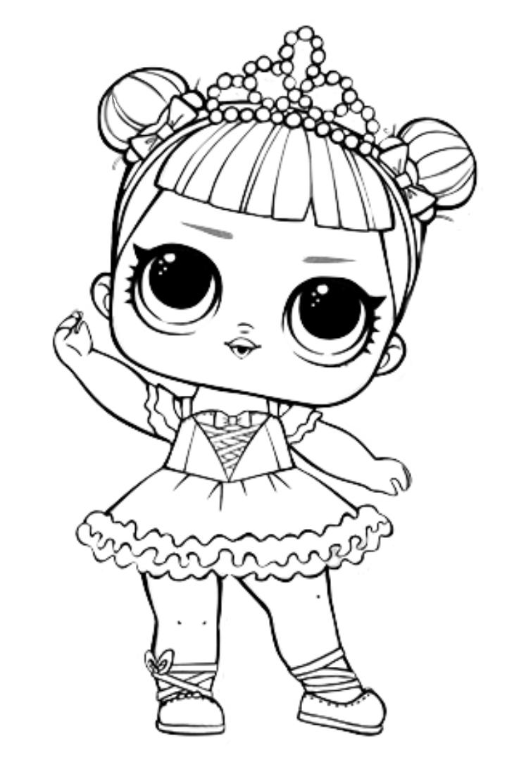 Раскраска LOL Surprise принцесса - Раскраски Лол LOL ...