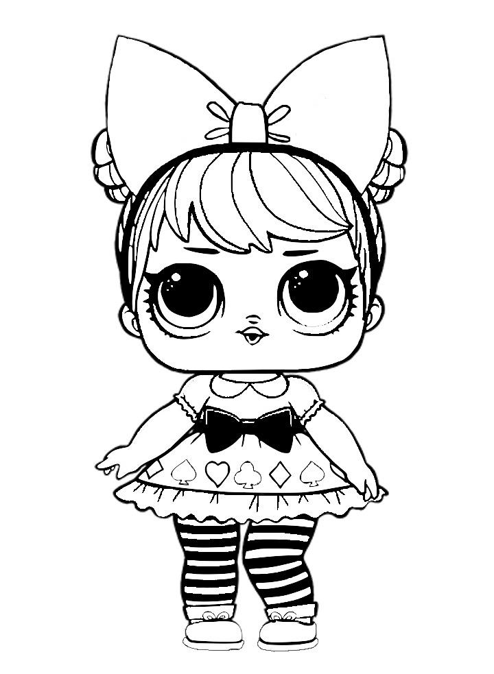 Раскраска LOL Surprise Алиса - Curious QT - Раскраски Лол ...