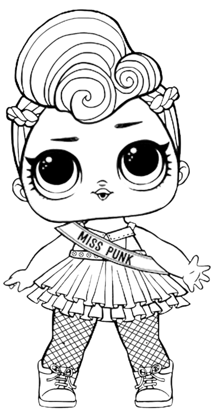 Раскраска LOL Surprise Miss Punk - Раскраски Лол LOL ...