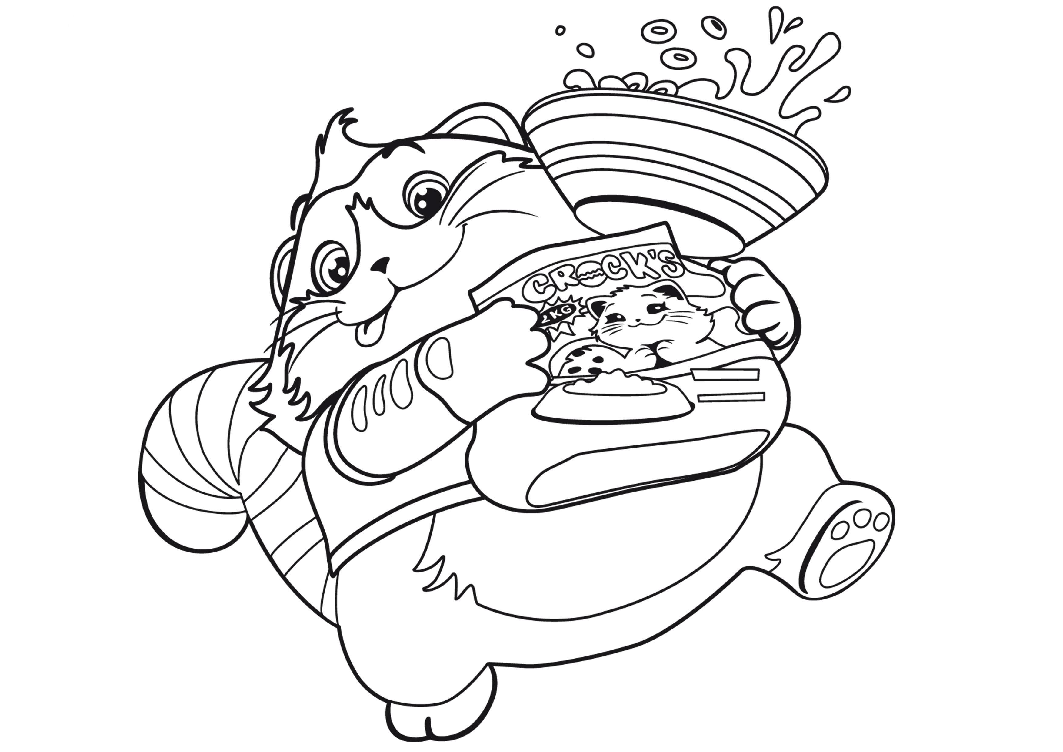 кот пончик с едой раскраска для детей раскраски 44 котёнка