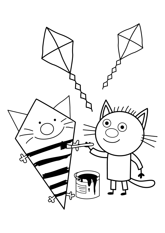 Раскраска Три Кота Изюм - Раскраски Три Кота - YouLoveIt.ru