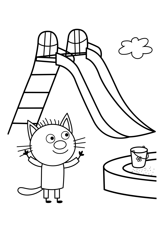 раскраска три кота раскраски три кота Youloveit Ru
