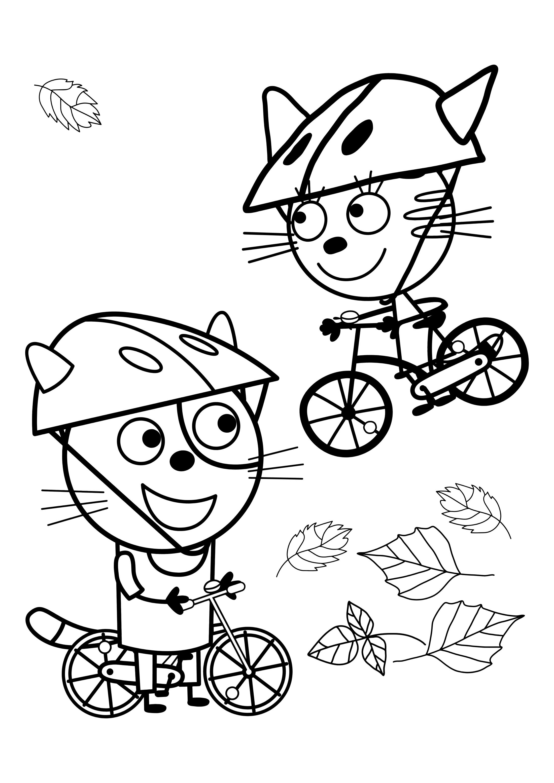 красивая раскраска три кота раскраски три кота Youloveit Ru