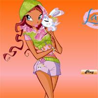 Игра Винкс:  пазл с Лейлой