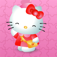 Игра набор пазлов с hello kitty