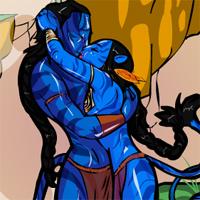Игра Аватар: поцелуи Джека и Нейтири