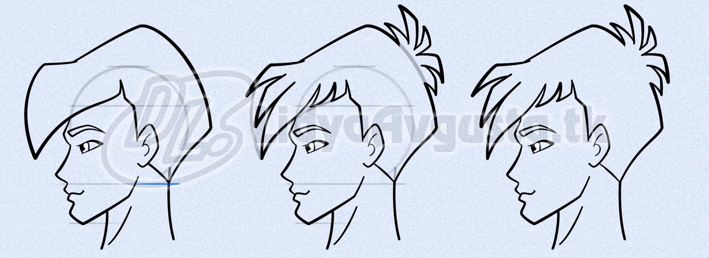 рисунки лица профиль карандашом