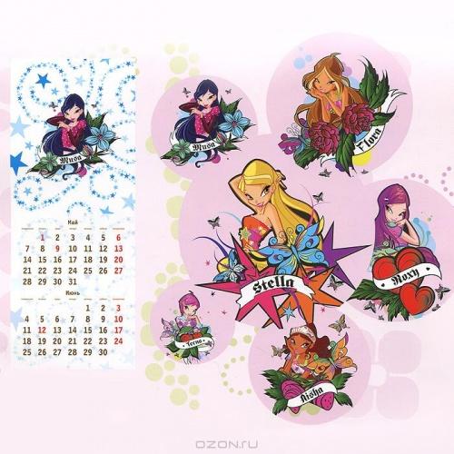Календари Винкс на 2012 год, новые игры на компьютер и другие интересные товары