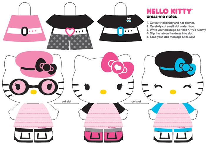 Hello Kitty: Бумажные куколки