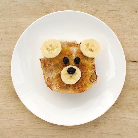 мишка в виде бутерброда с рецептом