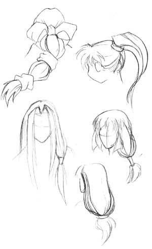 Как нарисовать волосы в стиле аниме