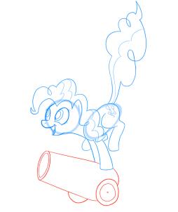 Урок рисования Пинки Пай