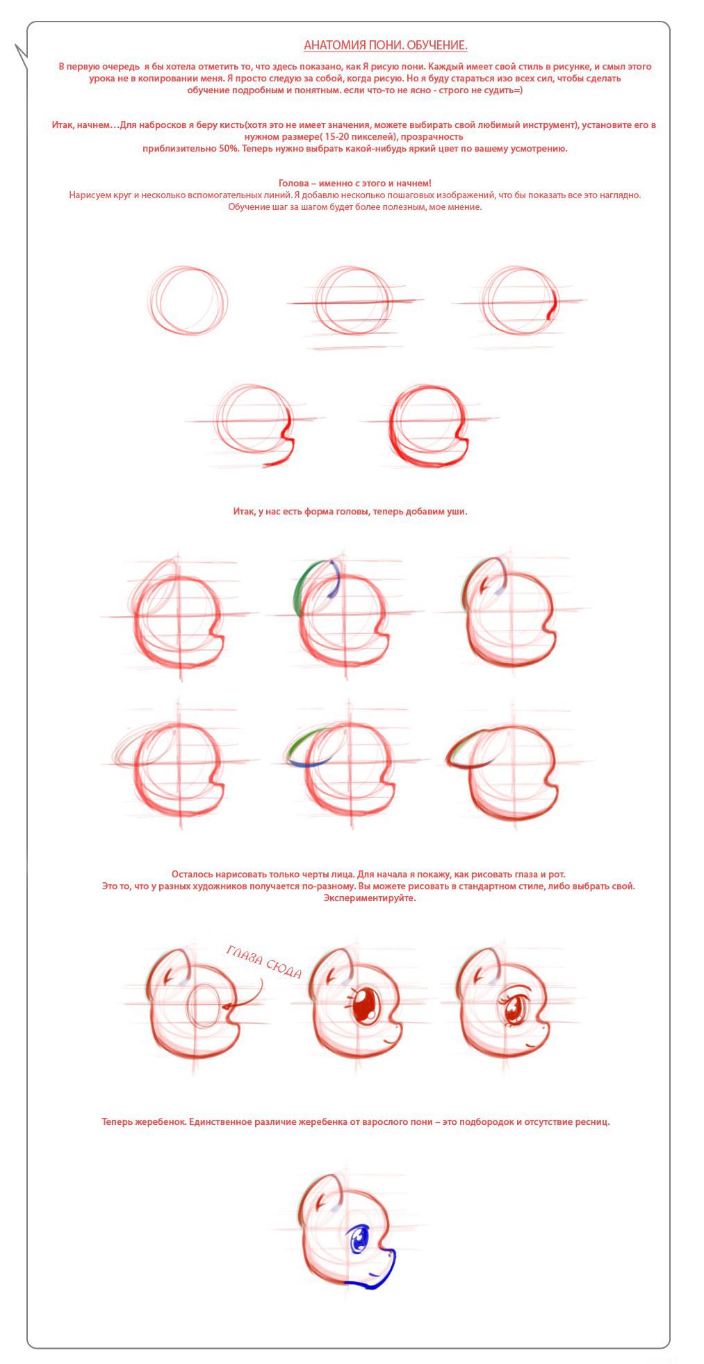 Как рисовать пони в стиле