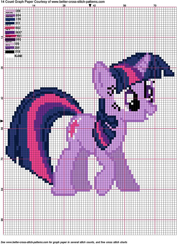 Мой маленький пони: схема для