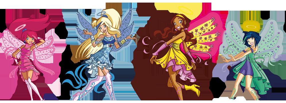 Раскраска друзья ангелов крылья призмы 93