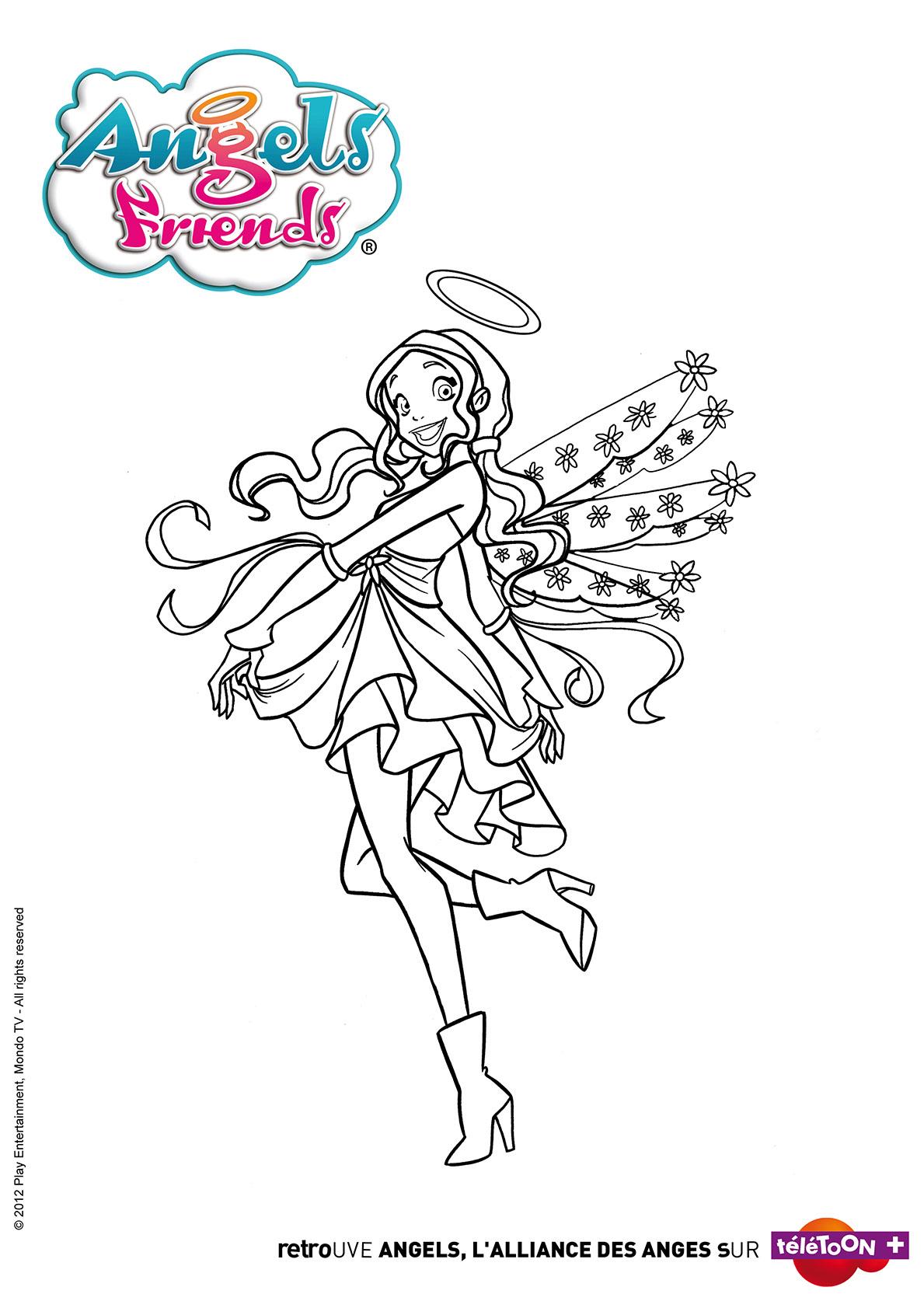 раскраски друзья ангелов крылья призмы и другие Youloveit Ru
