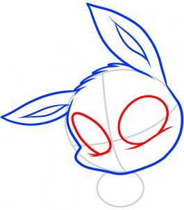 Рисуем чиби покемона Иви