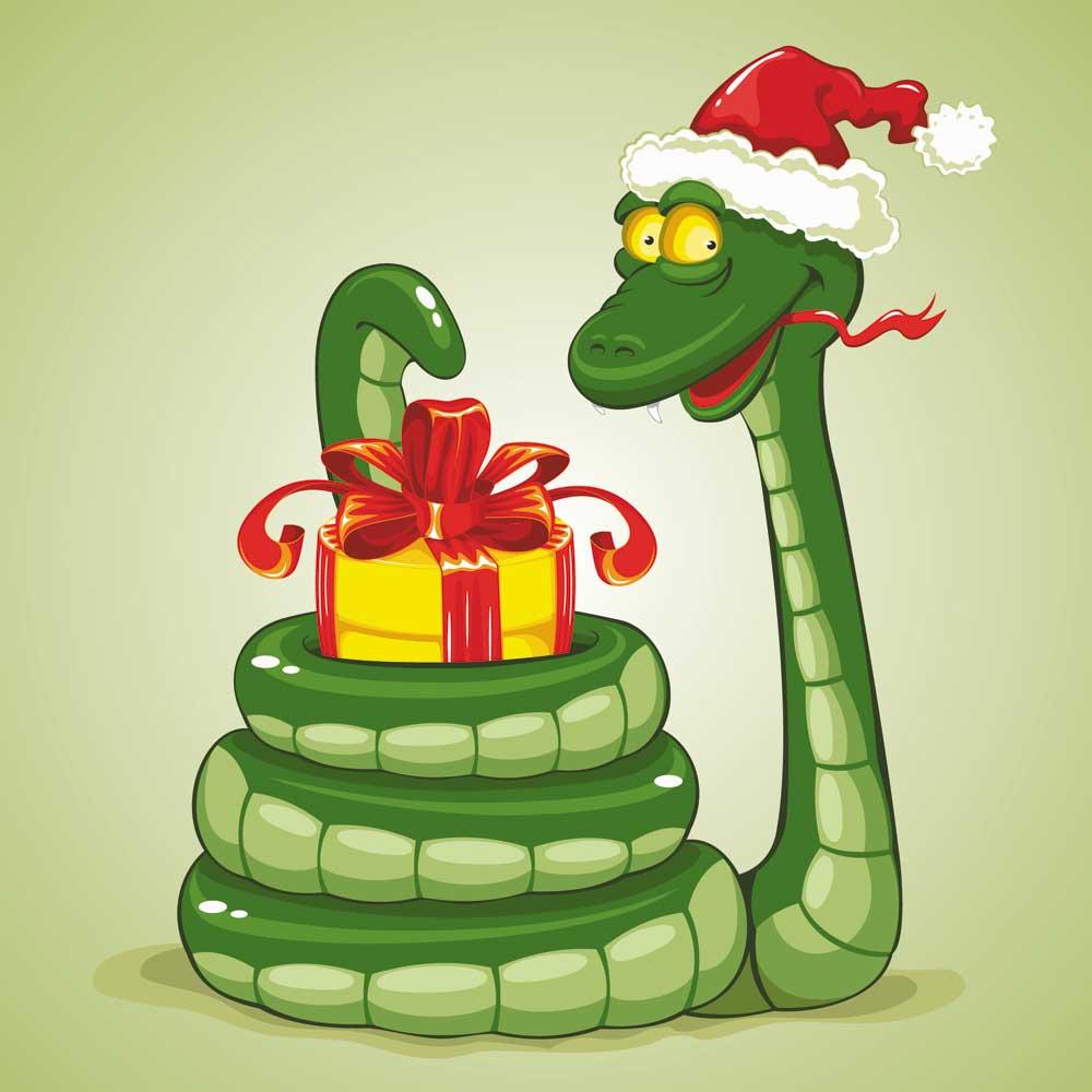 Сценка на новый год с змеей