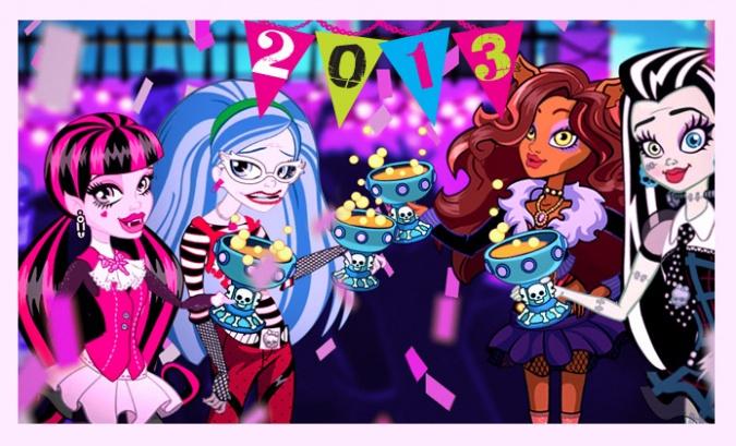 Новогодние картинки 2013 с персонажами Школы Монстров