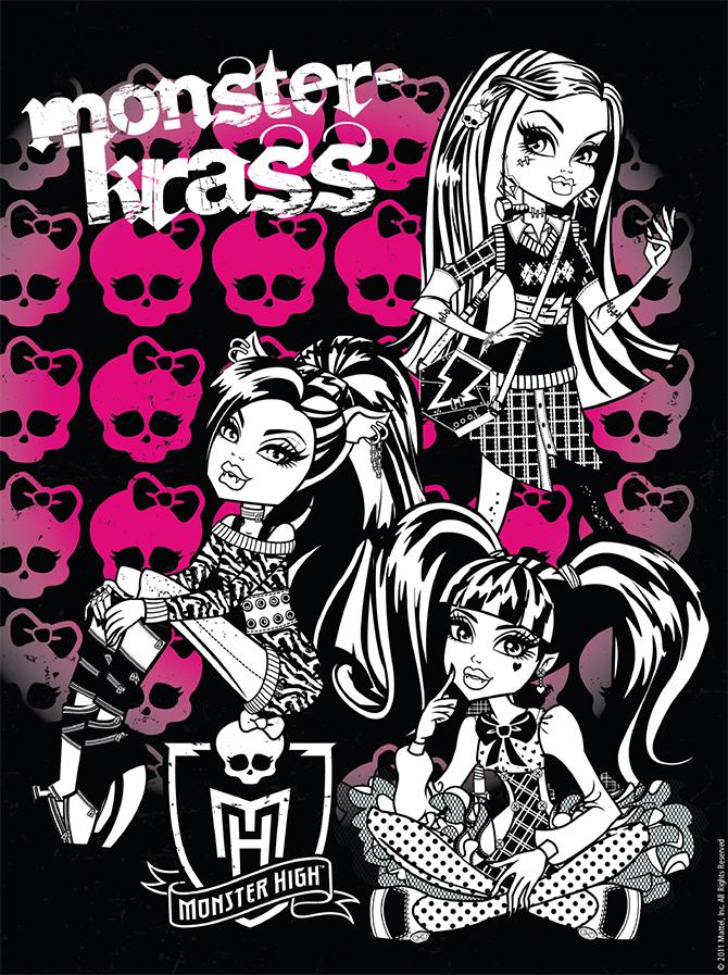 Постер с персонажами Школы Монстров для распечатки