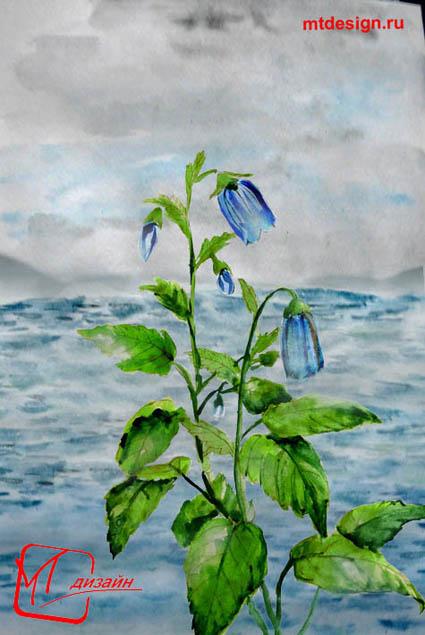 Урок рисования воды акварелью