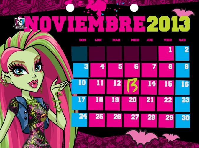 Школа Монстров: официальный календарь на 2013 год