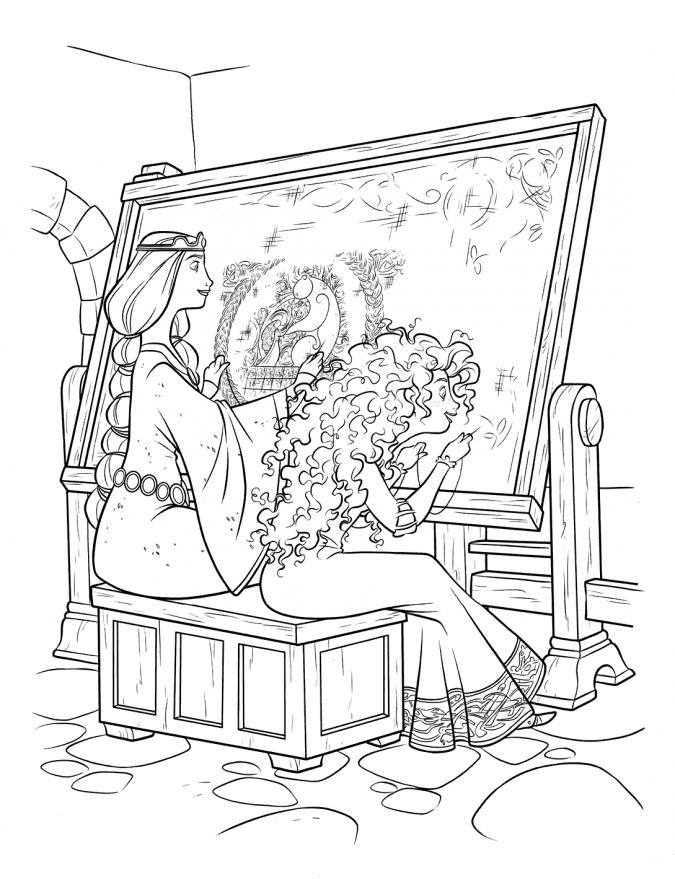 Раскраски принцессы дисней