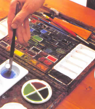 Базовые знания для работы с акварельными красками