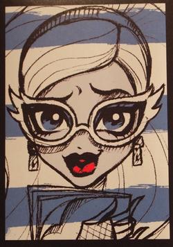 Красивые аватарки с набросками героинь Школы Монстров