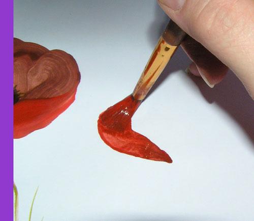Уроки рисования: рисуем маки гуашью