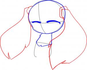 Учимся рисовать вокалоида Мику Хатцуне