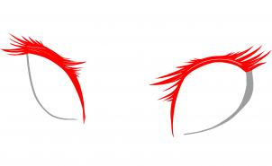 Урок рисования глаз в стиле аниме