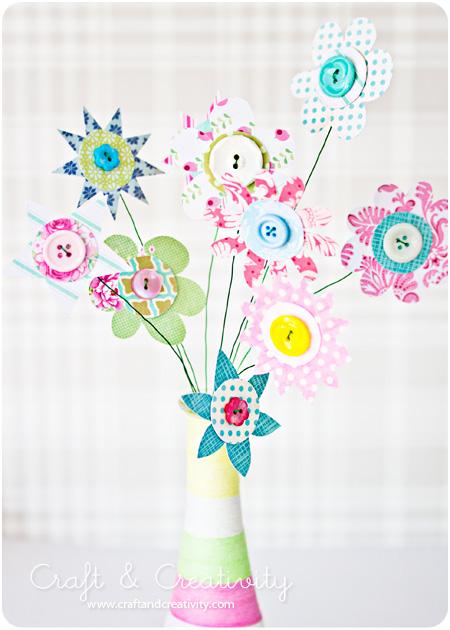 Макет цветка своими руками