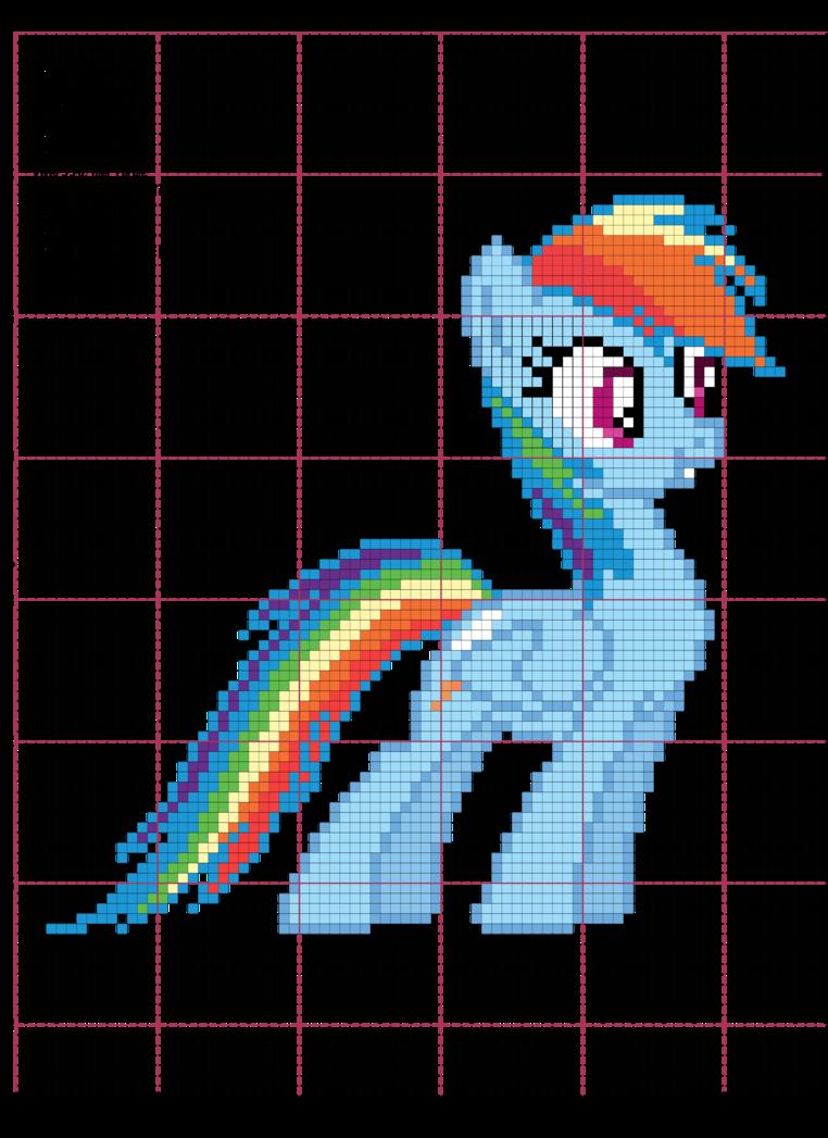 Схема вышивки крестом радуга